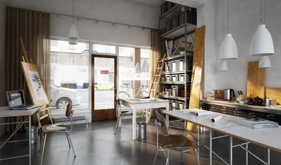 kleine Ladenwerkstatt - small shop office