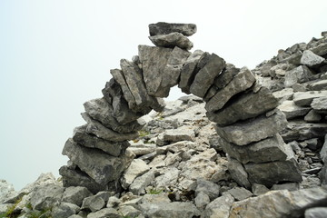 Brücke aus Steinplatten