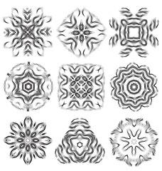 Beautiful pattern flower elements