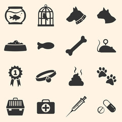 Vector Set of Pets Icons