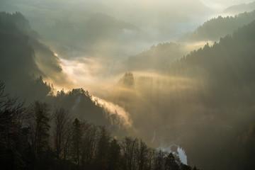 The enchanted mountain landscape