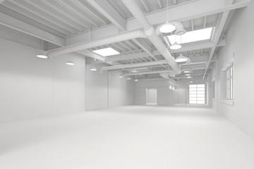 Weiße große saubere Halle