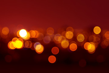 blurred view of the illuminated city
