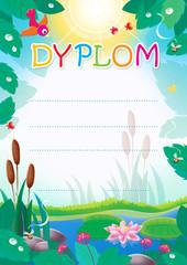 Diploma for Polish children
