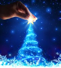 magical of tree christmas