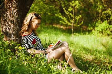 Чтение на природе