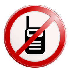 No cell phone sign. Vector illustration.