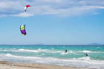 Kite surfing in Sardinia