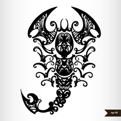 Zodiac signs black and white - Scorpio