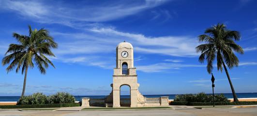 Worth Avenue Clock Tower on Palm Beach, Florida