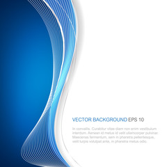 Abstract blue vector background with wave