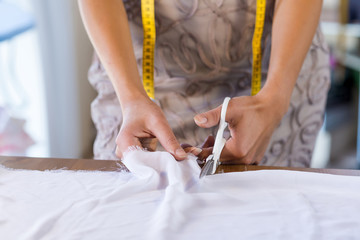 Tailor woman at work