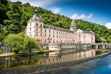 An ancient Benedictine Abbey of Brantome, France