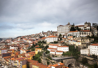 City view from the railway bridge. Porto, Portugal