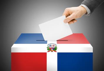 Ballot box as national flag - Dominican Republic