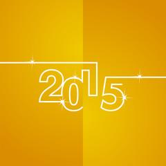 White line 2015 orange background vector