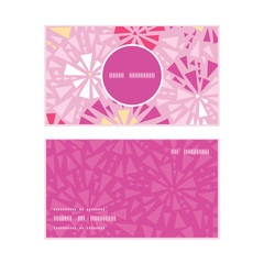 Vector pink abstract triangles vertical round frame pattern