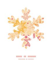 Vector warm stars Christmas snowflake silhouette pattern frame