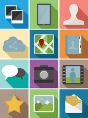 Web flat icons set design