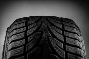 Black tire tread