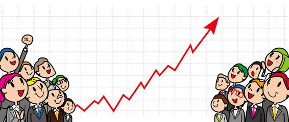 ビジネス 人々 グラフ