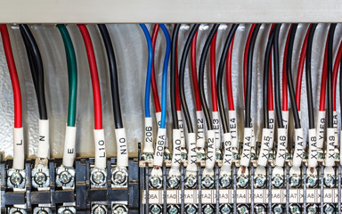 PLC -- input wires used in industry.
