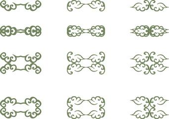 floral vintage element