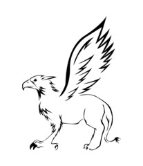 griffin Symbol Vector Illustration