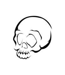 Skull Head Symbol