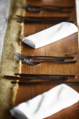 Forks on a table