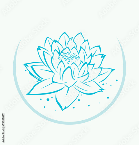 Lotus flower symbol stock image and royalty free vector files on lotus flower symbol mightylinksfo