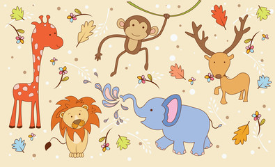 Animal Safari Doodle