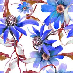 Blue Flower Seamless Pattern