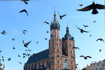 Autocollant pour porte Cracovie St. Mary Basilica, Krakow