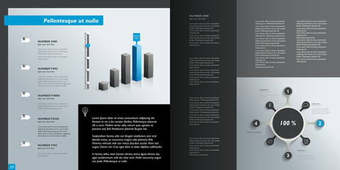 Infographics page layout. Vector design template.