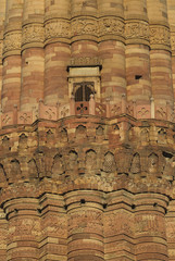 Foto op Canvas Delhi Detail of Qutb Minar in Delhi, India.