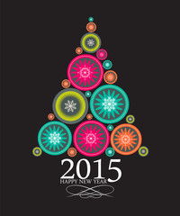 Abstract Beauty Christmas and New Year 2015 Background. Vector I