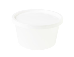 White Transparent Bowl White Cap isolated on white background