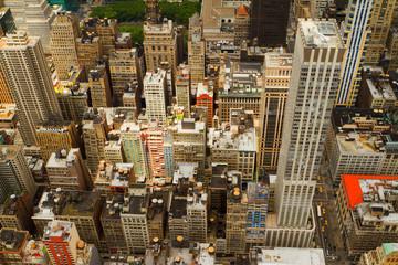 Aerial views of New York City, USA