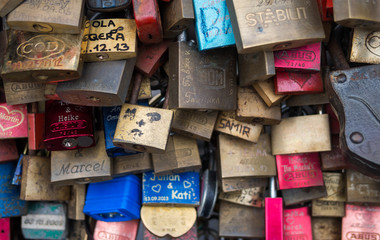 Love lock closeup