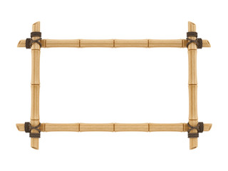 render of a bamboo frame, isolated on white