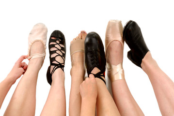 Styles of Dance Shoes in Feet