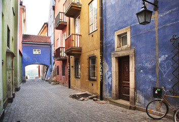 Fototapeta Narrow streets of Old Town, Warsaw obraz