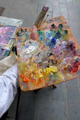 Palette de peintre
