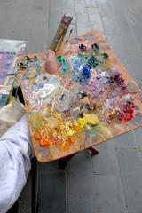 Peintre et sa palette