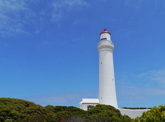 Historic cape Nelson lighthouse near Portland in