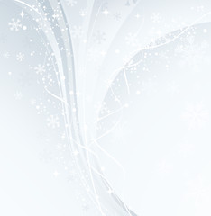 White Christmas banner with snowflakes