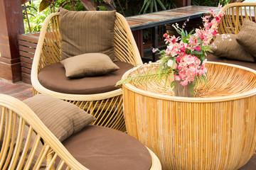 garden in summer relaxing