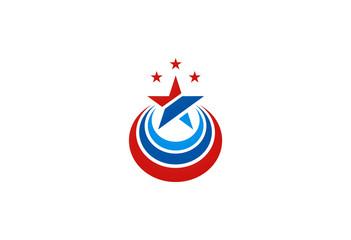 american star vector logo