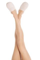 Woman's feet in slippers